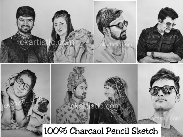 charcoal pencil sketch samples