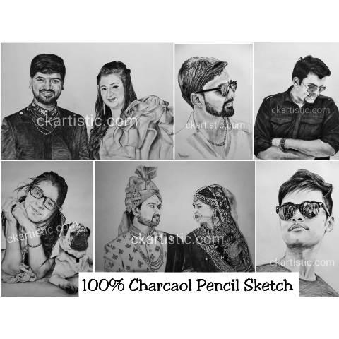 charcoal sketch samples